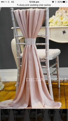 Wedding Reception Chairs, Wedding Chair Sashes, Wedding Chair Decorations, Wedding Centerpieces, Wedding Table, Wedding Dinner, Elegant Wedding, Beautiful Table Settings, Wedding Designs