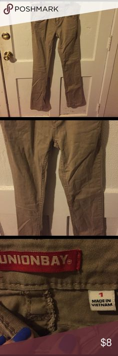 Union Bay Khaki Pants size 1 Great condition Khaki Pants from Union Bay size 1. No defects. UNIONBAY Pants Trousers