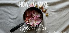 Learn how to make rose water using a basic folk method that is quick and simple to throw together. Rose is amazing for anti-aging, clear skin, and more!