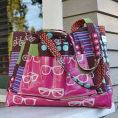 This tote bag is a the perfect size bag to use as a diaper bag, a day trip bag and everything in between.