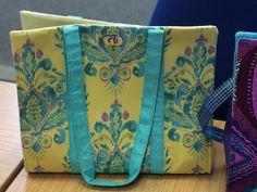 The JAZZIE Bag Pattern designed by Juberry Fabrics Unique Bags, Diaper Bag, Pattern Design, Sewing Patterns, Fabrics, Tejidos, Diaper Bags, Mothers Bag, Patron De Couture