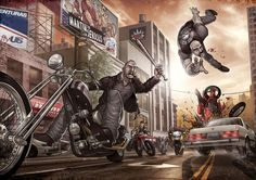 Amazing Grand Theft Auto Videogame Fan Art by Patrick Brown | Abduzeedo Design Inspiration