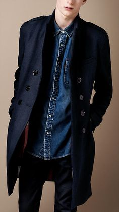 Wool Blend Chesterfield Coat | Burberry