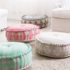 Give your home a bohemian touch with the Wanderer pouf. Available in a range of colours, you can choose a bright look, or a more neutral style. Featuring embroidery and pom-pom detailing, these poufs are designed to match the Wanderer cushions.