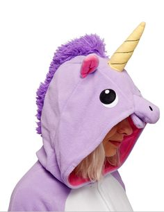 Purple Unicorn Kigu | Is it because I'm a unicorn? Steal the show at a fancy dress party with this awesome Unicorn onesie!