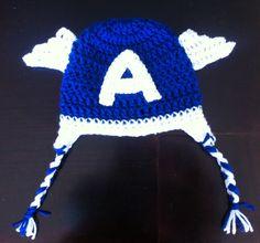 Gorrito de bebe en crochet - Capitán América