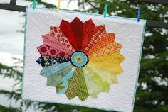 Color wheel Dresden mini quilt by Tracey Jacobsen