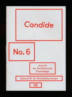 Candide – Journal for Architectural Knowledge