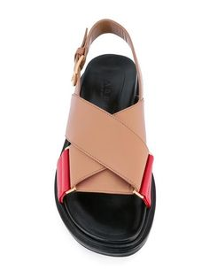 Shop Marni crossover Fussbett sandals.