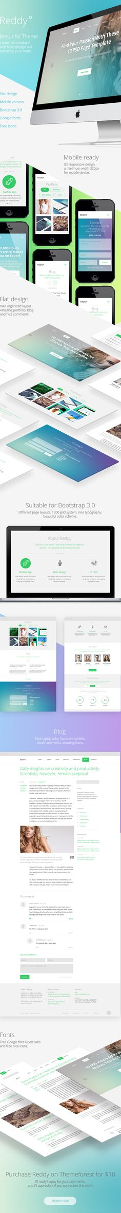Reddy Theme on Behance, Killing it with the use of gradients to be desktop and mobile friendly. Mobile Web Design, Web Ui Design, Site Design, Gui Interface, User Interface Design, Ui Design Inspiration, Ui Web, Web Layout, Interactive Design