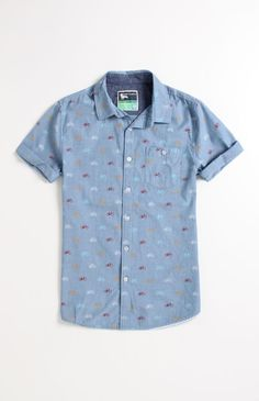 Modern Amusement Bikes Short Sleeve Woven Shirt