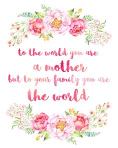 Beautiful Peony Watercolour Free Mother's Day Printables - The Happy Housie Happy mothers day loves! Happy Mothers Day Pictures, Happy Mothers Day Wishes, Happy Mother Day Quotes, Diy Mothers Day Gifts, Mothers Love, Mother Quotes, Mothers Day Saying, Diy Gifts, Mother's Day Background