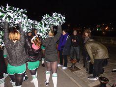 Backstage team <3 cheerleaders #boostbastille