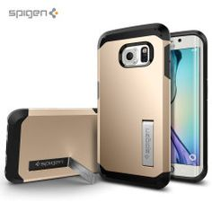 The Spigen Tough Armor in gold is the new leader in lightweight protective cases. The new Air Cushion Technology corners reduce the thickness of the case while providing optimal protection for your Samsung Galaxy S6 Edge.