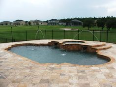Home of Travertine Pavers and Pool Copings. We have huge stock of Pavers in several sizes, colors and finishes like tumbled - all in stock ready to go. Travertine Pavers, Brick Pavers, Versailles Pattern, Pool Remodel, Pool Coping, Outdoor Pool, Outdoor Decor, Pool Decks, Outdoor Entertaining