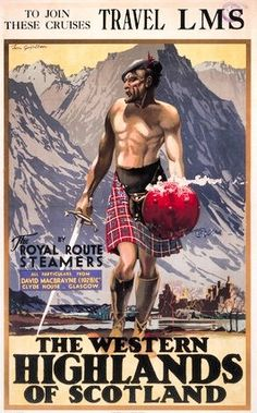 'The Western Highlands of Scotland', LMS poster, c Gilfillan, Tom Posters Uk, Train Posters, Railway Posters, Cool Posters, Travel Ads, Airline Travel, Train Travel, Europe Train, British Travel