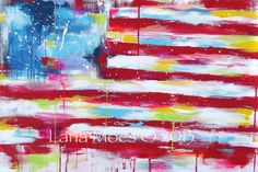 This listing is a print on canvas from the previously sold original painting titled : United #12. High quality professional print on canvas (1.5