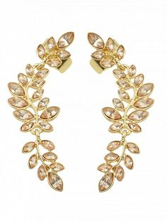 Prezzi e Sconti: #Faux crystal leaf shape ear cuffs  ad Euro 2.46 in #Jewelry #Moda