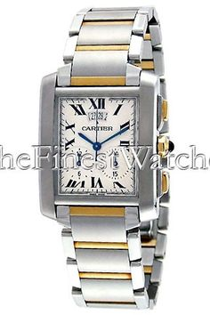 3d099966afe Certified Pre-Owned Extra-Large Cartier Tank Francaise Chronograph Watch -  W51025Q4. Stainless