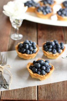 lemon custard and blueberries!