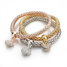 3 Piece Charm Bracelets