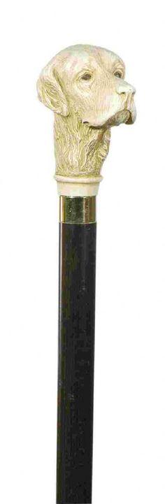 Classic Canes Imitation Ivory Handle Walking Stick - Golden Retriever Head 4016G - Classic Canes Imitation ivory Golden Retriever head cane A
