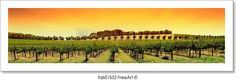 """Winery in the barossa valley"" - Art Print from FreeArt.com"