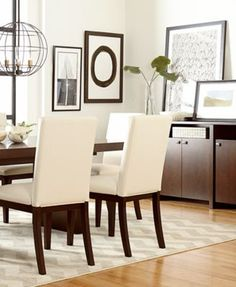 "sophia mirrored dining room furniture collection 5 pc 76"" table"