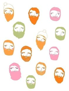 Bearded Man Art Print by Ashley G - HELLO August ashleyg.etsy.com