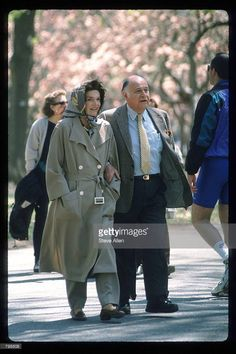 With Maurice, in Central Park, just a short while before her death.