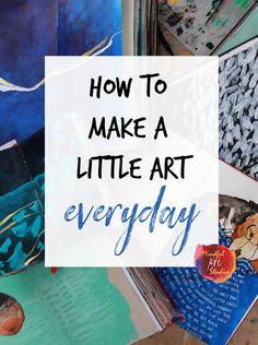 how to make a little art everyday, small art, small art ideas, inchie art, inchi. Moleskine, Art Quotidien, Beginner Art, Art Corner, Art Journal Techniques, Small Art, Art Challenge, Art Journal Inspiration, Medium Art