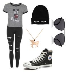 """""""untitled #28"""" by unicornsparklepoop ❤ liked on Polyvore featuring Topshop, Converse, Louche, The Row, women's clothing, women, female, woman, misses and juniors"""