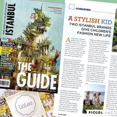 "Thank you The Guide Istanbul for having LiaLea to the ""Istanbul With Kids"" issue"