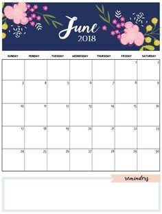 cute june 2018 calendar template