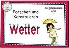 Forscherkarten und Aktivitäten zum Thema Wetter