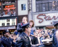 Mets victory parade, October 28th, 1986. The late, great, Gary Carter.