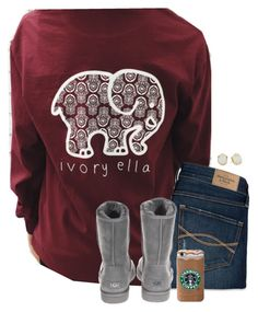 """""""Ivory Ella is my love but I don't have any"""" by savanahe on Polyvore featuring Abercrombie & Fitch, UGG Australia, Kendra Scott, women's clothing, women, female, woman, misses and juniors"""