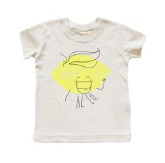 KID AND KIND 'ALLO! LEMON' T-SHIRT IN NATURAL – Kid + Kind