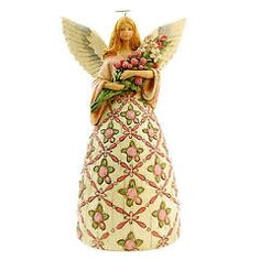 """Jim Shore """"With Prayer All Things are Possible"""" angel. 10.75"""" H x 5"""" W x 6.5"""" L. Introduced June 2010"""