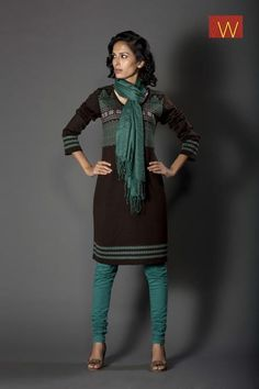 Refresh your looks with this classy style.  #KURTA #INDIA #BLACK #CLOTHING #W #WOMAN #CLASSY #STYLE #FASHION #JADE #GREEN