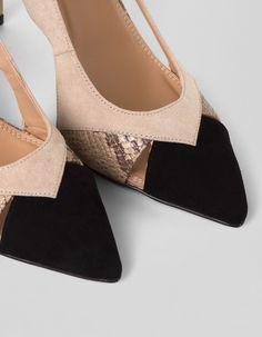 Zapato tacón antelina   Blanco