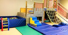 Climbing gym for kids - with ladder/rock/wall and ramp (no ball pit)