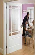 It's not just people that can suffer from a change with the seasons. Seasonal Affective Disorder can also be experienced by your wooden doors. Interior Glazed Doors, White Interior Doors, Interior Columns, White Doors, Porch Doors, House Doors, Windows And Doors, Porch Interior, Staircase Wall Decor