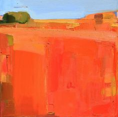 Sandy Ostrau, Thomas Reynolds Gallery - San Francisco - love the heat, orange predominant but so many tones in there