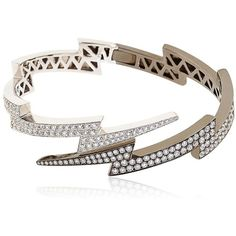 ANITA KO Over Spike Bracelet ($32,640) ❤ liked on Polyvore featuring jewelry, bracelets, accessories, rings, bracelets & bangles, white gold bangle bracelet, black spike bracelet, spike bracelet, black bracelet and white gold jewelry