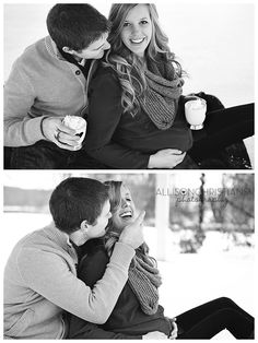 good ideas for winter maternity location shooting