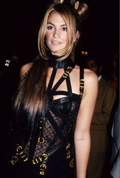 we're channeling a young Cindy Crawford in today's story on '90s Versace