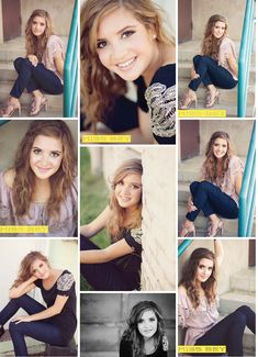 Teenage girl (or lady) portrait Poses, senior pictures