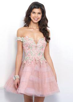 Off the Shoulder A Line Floral Applique Rum Pink Multi Homecoming Dress