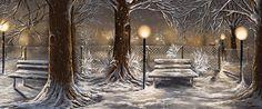 Winter Trilogy Collage by Veronica Minozzi